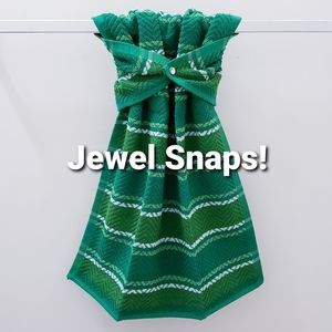#979 ONE Hanging Snap-on HAND Towel *JEWEL snap